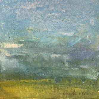 Sheila O'Keefe Braun |  S4A |  Acrylic fingerwork/knives |  6 x 6 |  $125. |