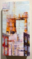 Michael Bartmann |  At Keppel |  Oil on Panel |  12 X 6 |   SOLD