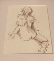 CHERYL ELMO  FIGURE II  PENCIL 10 x 12  $75