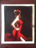 DAVID SILVAH FLEMENCA RED   16 x 12.5     Acrylic     $300.