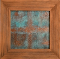 GLENN DETWILER  IV Copper Wall Art , Copper with wood barn siding frame 11.5 x 11.5 x 11.5  $137
