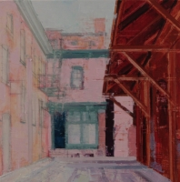 MICHAEL BARTMANN  WEST GRANT STREET CENTRAL MARKET, 2018  Oil on Board 8 x 8  $300