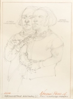 ROBERT A. NELSON  WASHINGTON BROTHER(?)   PENCIL  11 x 8   $150