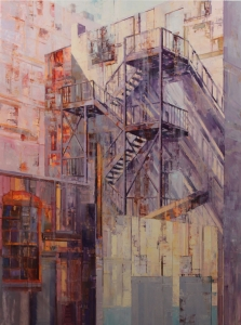 Michael Bartmann  |  Ascend/Descend |  Oil on Board  |  48 x 36 |   $4800. - SOLD