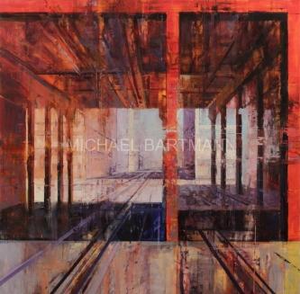 Michael Bartmann  |  Beckon Primary  |  Oil on Board |  36 X 36  |  $4,000. SOLD