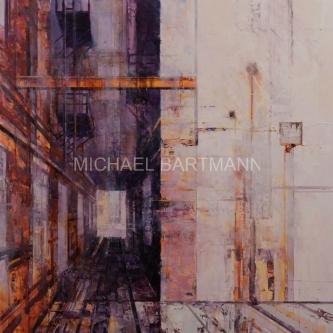 Michael Bartmann  |  I-Beam |  Oil on Board |  30 X 30  |  $3,500. SOLD
