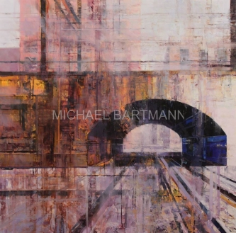 Michael Bartmann  |  Cross Roads |  Oil on Board  |  30 X 30  |  $3,500. SOLD