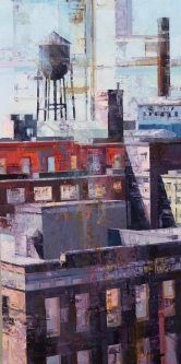 Michael Bartmann  |  Past Life II, Armstrong  |  Oil on Board  |  30 X 15  |  $1,800. - SOLD