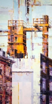 Vacant Keppel   Oil on Board  48 X 24   $4,000.  SOLD