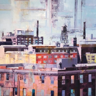 Michael Bartmann  |  Past Life III, Armstrong |   Oil on Board |   24 X 24 |   $2500. - SOLD