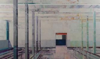 Michael Bartmann  |  Bardo Room  II |  Oil on Board  |  36 x 60  |  $5,500. SOLD