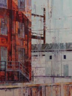 Michael Bartmann  |  Industrial Lancaster |  Oil on Board  |  40 x 30  |  $4,000. SOLD