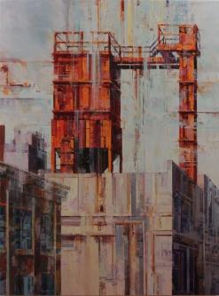 Michael Bartmann  |  Industrial Lancaster III |  Oil on Board  |  48 x 36  |  $4,800. - SOLD