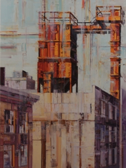 Michael Bartmann  |  Industrial Lancaster IV |  Oil on Board  |  40 x 30  |  $4,000.  SOLD