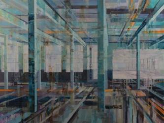 Michael Bartmann  |  Stehli at Rest II |  Oil on Board  |  36 x 48  |  $4,800. SOLD
