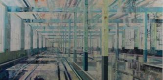 Michael Bartmann  |  Stehli at Rest IV |  Oil on Board  |  30 x 60 |   $5,500. - SOLD
