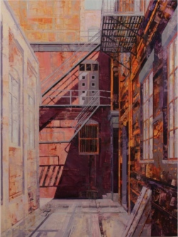 The Alleyway, 2019  Oil on board  40 x 30  $4,400. SOLD