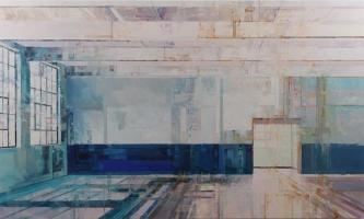 Michael Bartmann  |  The Wall |  Oil on Board  |  36 x 60 |   $5,500. SOLD