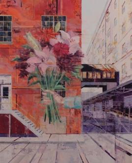 Michael Bartmann  |  Urban-Imprint III, 2020 |  30 x 24 |  Oil on board |  $3,000. SOLD