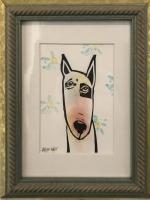 Artie Art- Susan Roseman | Sit | Lino | 4 1/2 x 3 | $48.