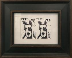 Artie Art- Susan Roseman | Double Dutch | Lino | 3 x 4 1/2 | $48.