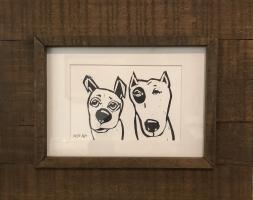 Artie Art- Susan Roseman | Duo | Lino | 3 x 4 1/2 | $48.