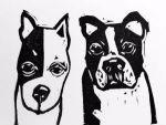 Artie Art Susan Roseman Wait Lino 3 x 4 1/2 $48.