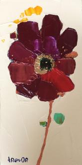 Trevor Mikula |  Bah Bloom |  Acrylic/oil on cradled board |  6 x 3 |  $125.